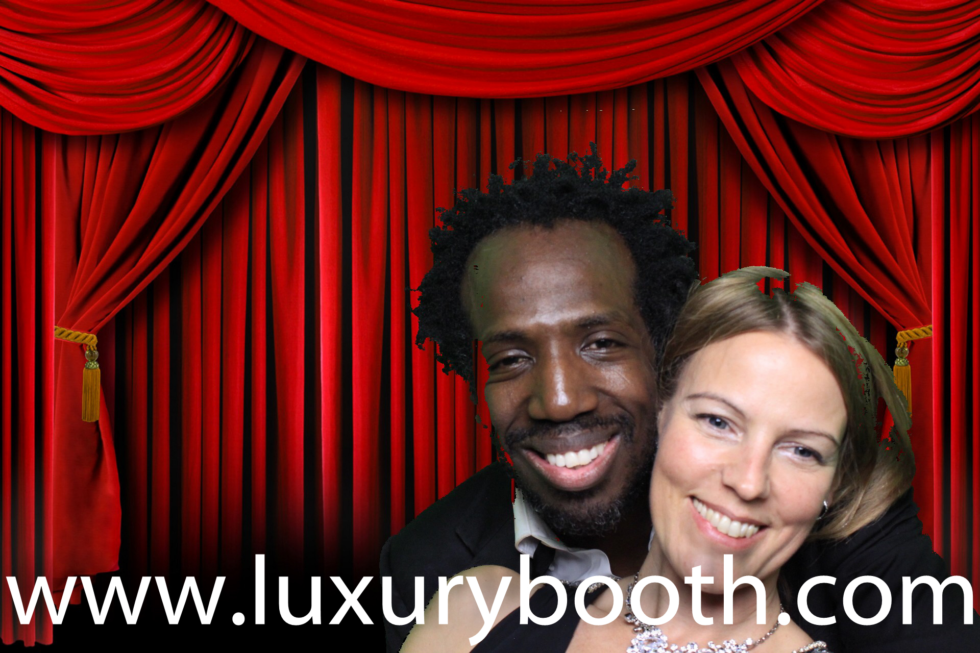 A couple in our oxford photo booth hire