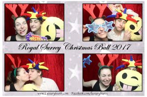 Christmas fun in the photo booth with our Golf Club photo booth hire package