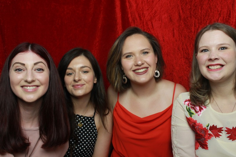 4 of the guests enjoying our photo booth at Trunkwell House - PwC Summer Ball 2019