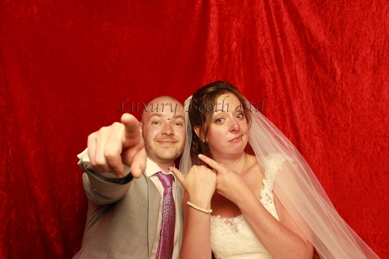 Bride and groom in our photo booth for a New Forest photo booth hire