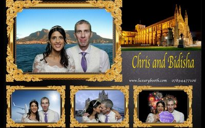 Chris and Bidisha – photo booth hire in WInchester