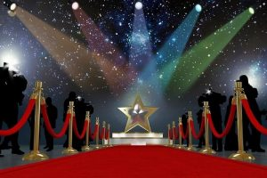 Red carpet and silver star