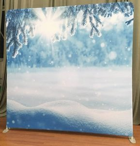 Christmas drift photo booth backdrop