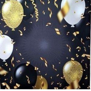 Celebration balloons photo booth backdrop